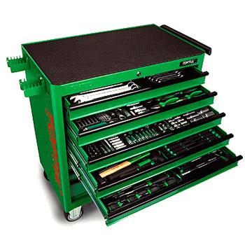 Bộ tủ 8 ngăn có bánh xe di động 360 chi tiết TOPTUL GT-36001